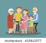 happy family portrait. vector... | Shutterstock .eps vector #415812577