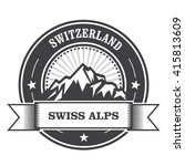 alps mountains stamp  ... | Shutterstock .eps vector #415813609