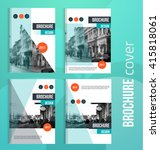 set of vector brochure cover... | Shutterstock .eps vector #415818061