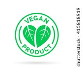 vegan product icon design... | Shutterstock .eps vector #415818919