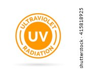 uv rays icon stamp design.... | Shutterstock .eps vector #415818925