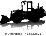 vector silhouette of a tractor... | Shutterstock .eps vector #415823821