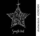 Black And White Christmas Star...