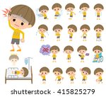 set of various poses of yellow... | Shutterstock .eps vector #415825279