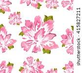 seamless pattern floral. pink... | Shutterstock .eps vector #415827211