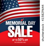 memorial day sale banner... | Shutterstock .eps vector #415829644