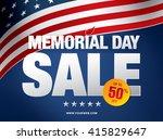 memorial day sale banner... | Shutterstock .eps vector #415829647