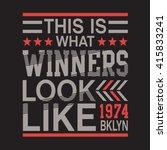message sport typography  t... | Shutterstock .eps vector #415833241