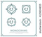 line letter u monogram. vector... | Shutterstock .eps vector #415834855