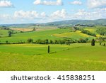 green hills of chianti with... | Shutterstock . vector #415838251