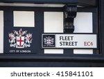 a street sign for fleet street... | Shutterstock . vector #415841101
