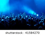 motion blur version of clapping ... | Shutterstock . vector #41584270
