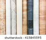 rolls of lino in a homeware... | Shutterstock . vector #415845595