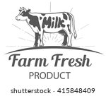 vector farm logo template with... | Shutterstock .eps vector #415848409