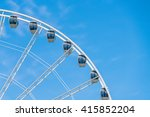 White Modern Ferris Wheel  With ...