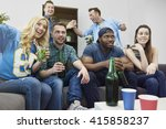 party with friends during... | Shutterstock . vector #415858237