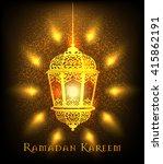 ramadan kareem greeting on... | Shutterstock .eps vector #415862191