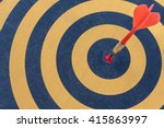 goal setting and smart  dart... | Shutterstock . vector #415863997