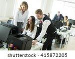 business people working... | Shutterstock . vector #415872205