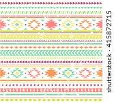 aztec seamless pattern.... | Shutterstock .eps vector #415872715