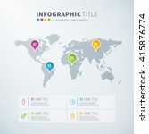 business infographic world map... | Shutterstock .eps vector #415876774
