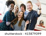 Young People Taking Selfie In...