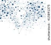 global network on white... | Shutterstock .eps vector #415891375