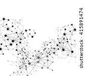 global network on white... | Shutterstock .eps vector #415891474