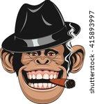vector illustration of funny... | Shutterstock .eps vector #415893997