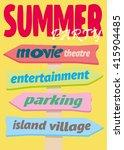 beach signpost. index trends... | Shutterstock .eps vector #415904485