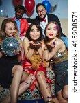 glamorous girls | Shutterstock . vector #415908571