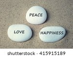 Peace  Love  Happiness Text On...