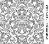 coloring pages for adults.... | Shutterstock .eps vector #415916365