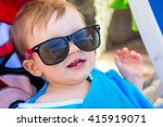 Cute Baby Boy In Sunglasses On...