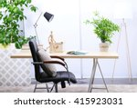 workplace with table  office... | Shutterstock . vector #415923031