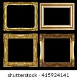 gold picture frame isolated on... | Shutterstock . vector #415924141