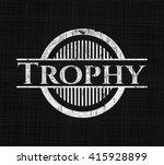 trophy chalkboard emblem... | Shutterstock .eps vector #415928899