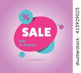 special offer sale tag discount ... | Shutterstock .eps vector #415929025