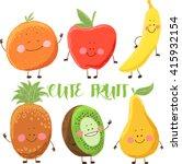 cute fruit   Shutterstock .eps vector #415932154