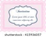 retro vintage invitation.... | Shutterstock .eps vector #415936057