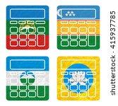 nation flag. calculator... | Shutterstock . vector #415937785