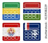 nation flag. calculator... | Shutterstock . vector #415938229