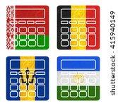 nation flag. calculator... | Shutterstock . vector #415940149