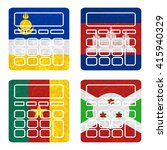 nation flag. calculator... | Shutterstock . vector #415940329