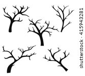 hand drawn tree branches ... | Shutterstock .eps vector #415943281