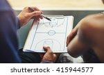 basketball player sport game... | Shutterstock . vector #415944577