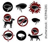 flea set. vector | Shutterstock .eps vector #415946281