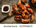 Bbq Chicken Wings With Sauce...