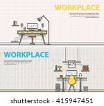 two banner for web design.... | Shutterstock .eps vector #415947451