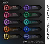 vector infographic design list... | Shutterstock .eps vector #415951645